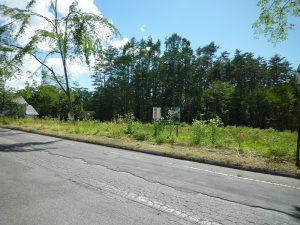 前面道路北東側から撮影(2018年7月)