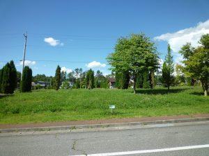 前面道路から北方向を撮影(2018年7月)