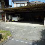 進入路と車庫