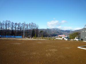 物件北方向を撮影、車山の眺望あり(2018年12月)
