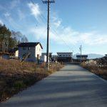 前面道路から南方向に甲斐駒ヶ岳の眺望