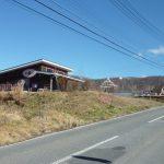 別荘地へ向かう道沿いの店舗(2017年10月)