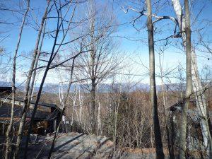 現地からの眺望(2018年12月25日撮影)。