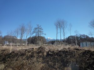 物件東方向に見える八ケ岳(2019年2月)