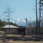 物件南方向を撮影・甲斐駒ケ岳の眺望(2019年4月)
