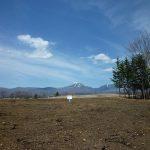 物件東方向の蓼科山の眺望(2019年4月)