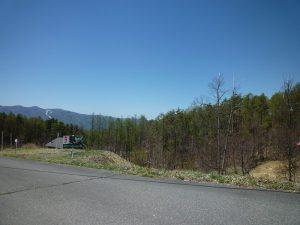西方向に見える入笠山(2019年5月)