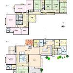 2階・3階の 間取図(但し、現況優先)1Fは乾燥室と倉庫