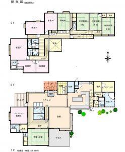 2階・3階の 間取図(但し、現況優先)1Fは乾燥室と倉庫(間取)