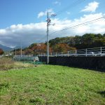 敷地蓼科山の見える東方向を撮影(2017年10月)