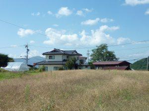 敷地から西方向を撮影(2017年9月)