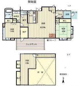 1F99.37㎡・2F27.74㎡(間取)