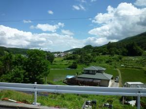 現地南側の風景2016年6月