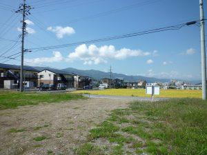 敷地から西側を撮影(2017年9月)