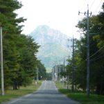 前面道路から見える八ヶ岳(2017年10月)